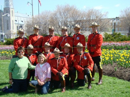 Giordana and I start the day with the Royal Canadian Mounties