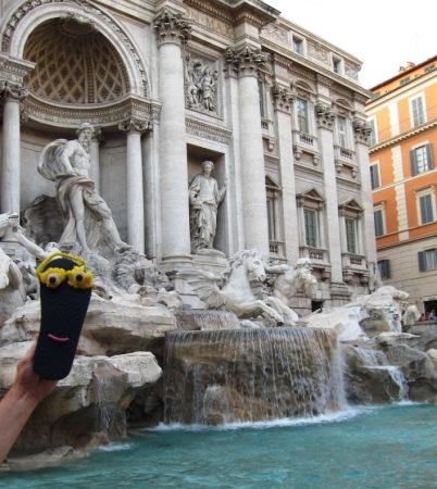 Sammy Sole at the famous Tivoli Fountain in Rome