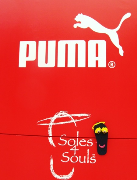 Sammy Sole helps out with the Puma shoe collection.