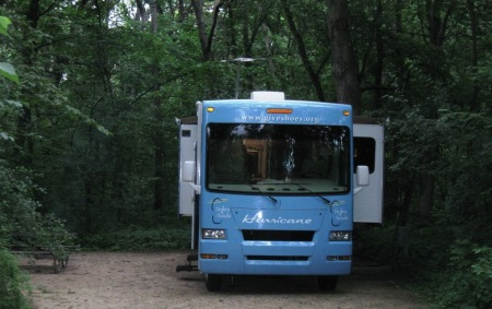 deep wooded campsite madison
