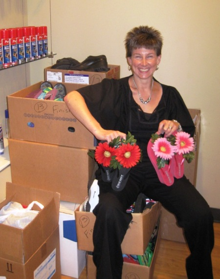 Caroline Martinie, who deserves a raise for organizing such an amazing shoe drive.
