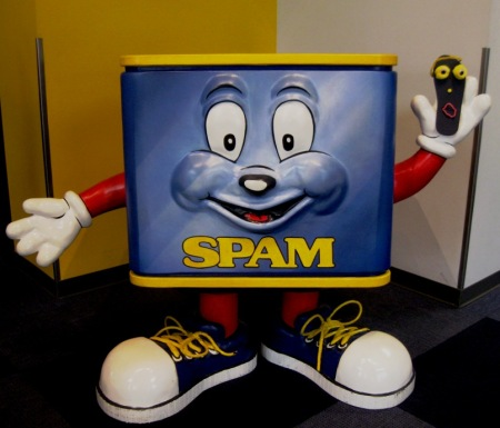 "Sammy Sole and ""Spammy"" the Spam mascot"