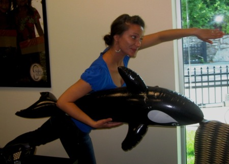 While Wayne swims with the dolphins, Crystal bravely swims with killer whales!