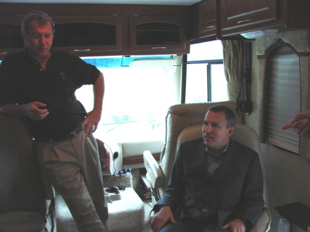 Greg Tunney relaxing in the RV
