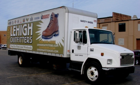 This truck will collect and deliver thousands of shoes!