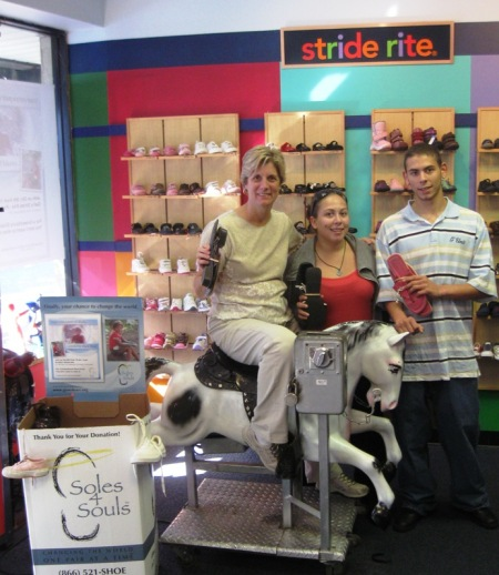 Gail (on horse!) and staff from Port Washington store