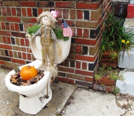 jim thorpe toilet art pumpkin